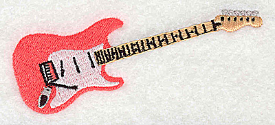 Embroidery Design: Guitar 3.44w X 1.50h