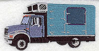 Embroidery Design: Truck van 3.75w X 1.94h