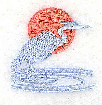 Embroidery Design: Blue heron 1.25w X 1.25h