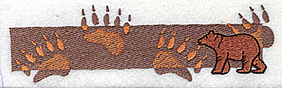 Embroidery Design: Bear paw prints 6.44w X 1.88h