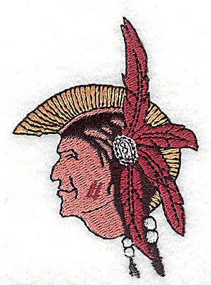 Embroidery Design: Mohawk Indian 1.94w X 2.75h