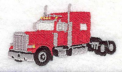 Embroidery Design: Truck semi 2.13w X 1.25h