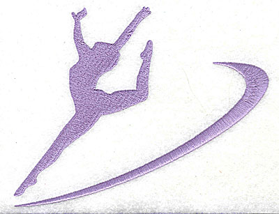 Embroidery Design: Gymnast large 5.88w X 4.63h