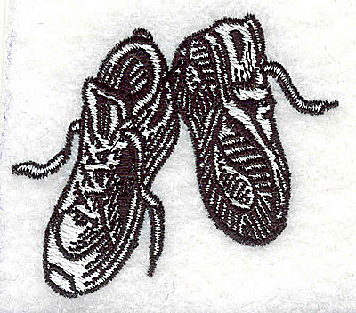 Embroidery Design: Sneakers 2.25w X 1.94h