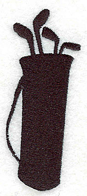 Embroidery Design: Golf bag with clubs 1.44w X 3.44h
