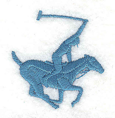 Embroidery Design: Horse with polo player 1.63w X 1.69h