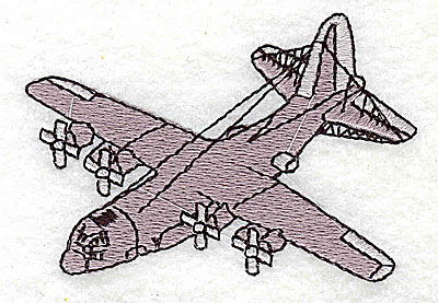 Embroidery Design: Propeller airplane 2.94w X 2.00h