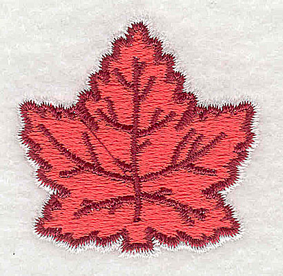 Embroidery Design: Maple leaf 1.69w X 1.63h