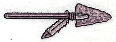 Embroidery Design: Arrow and feather 4.13w X 1.38h