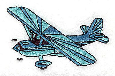 Embroidery Design: Seaplane 2.81w X 1.75h