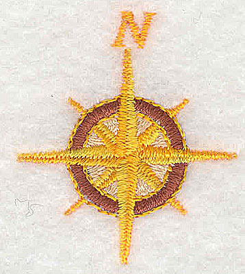 Embroidery Design: Compass 1.38w X 1.56h