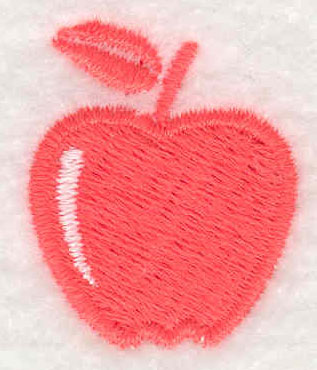Embroidery Design: Apple 0.88w X 1.06h