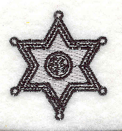 Embroidery Design: Sheriff badge 1.38w X 1.50h