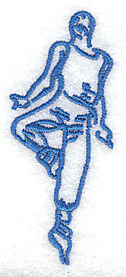 Embroidery Design: Dancer 1.25w X 3.00h