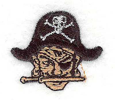 Embroidery Design: Pirate head 1.38w X 1.25h