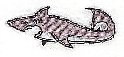 Embroidery Design: Shark 2.69w X 1.06h