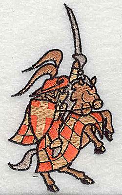 Embroidery Design: Knight on steed 2.06w X 3.63h