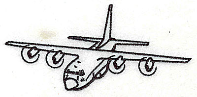 Embroidery Design: Propeller airplane 4.56w X 2.13h
