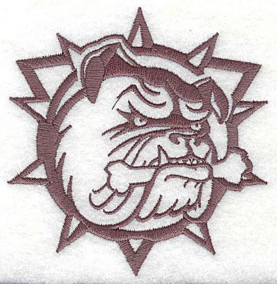 Embroidery Design: Bulldog 3.38w X 3.50h