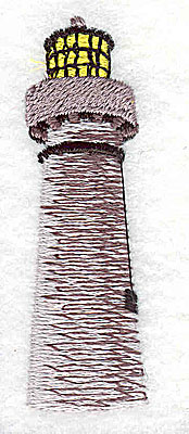 Embroidery Design: Lighthouse 0.75w X 2.44h