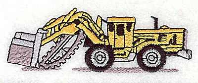 Embroidery Design: Backhoe 3.63w X 1.25h