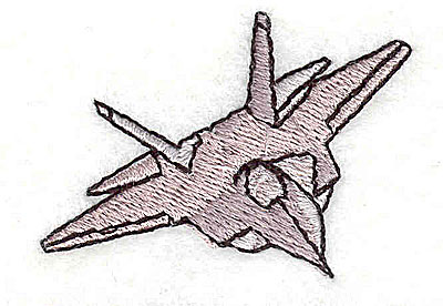 Embroidery Design: Fighter jet 1.81w X 1.31h