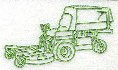 Embroidery Design: Riding lawn mower 3.94w X 2.25h