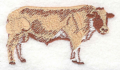 Embroidery Design: Steer 3.31w X 1.81h