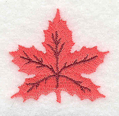 Embroidery Design: Maple Leaf 1.56w X 1.44h
