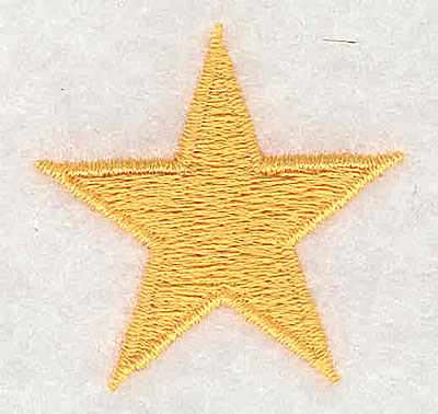 Embroidery Design: Star 1.44w X 1.38h