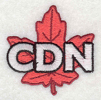 Embroidery Design: Cdn maple leaf 2.00w X 2.06h