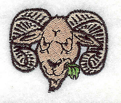 Embroidery Design: Mountain goat ram 1.63w X 1.38h
