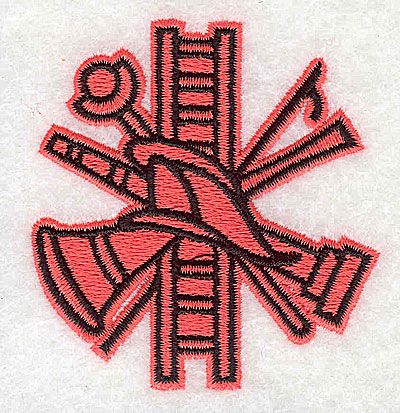 Embroidery Design: Firefighters logo 2.44w X 2.50h
