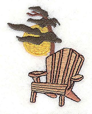 Embroidery Design: Adirondack chair 1.63w X 2.19h