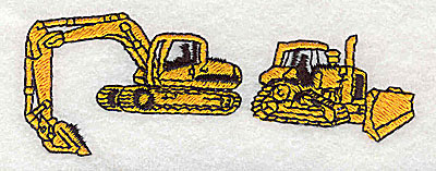 Embroidery Design: Construction machinery 3.44w X 1.25h