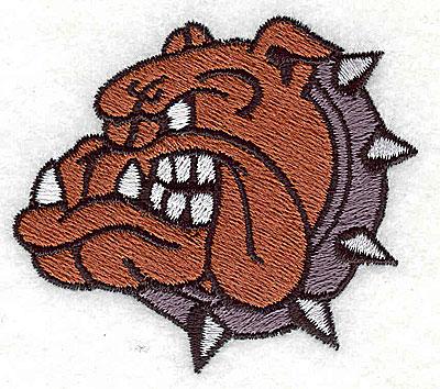 Embroidery Design: Bulldog 2.56w X 2.31h