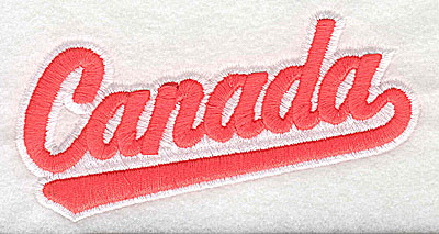 Embroidery Design: Canada with banner 4.44w X 2.44h