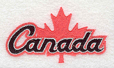 Embroidery Design: Canada with maple leaf 2.81w X 1.50h