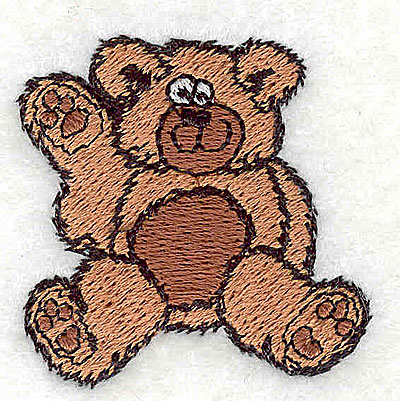 Embroidery Design: Teddy bear 1.63w X 1.63h