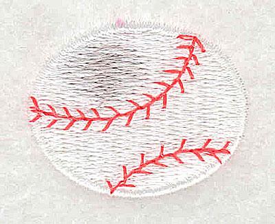 Embroidery Design: Baseball 1.31w X 1.06h