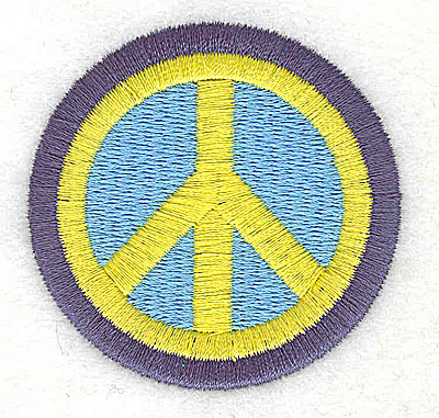 Embroidery Design: Peace symbol 2.13w X 2.06h