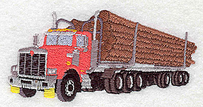 Embroidery Design: Logging truck 3.44w X 1.69h