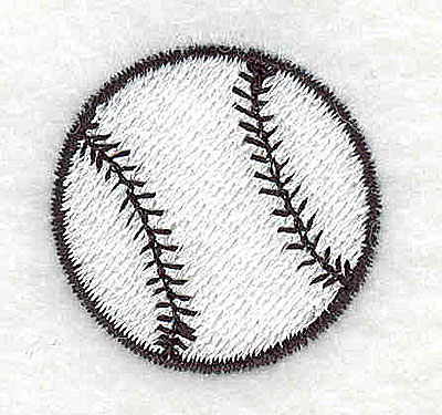 Embroidery Design: Baseball 1.06w X 1.06h