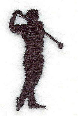Embroidery Design: Golfer 0.88w X 1.63h