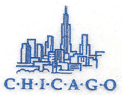 Embroidery Design: Chicago 2.94w X 2.19h