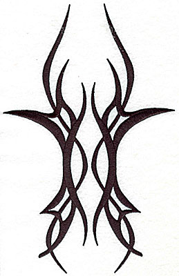 Embroidery Design: Tribal tattoo 6.25w X 9.81h