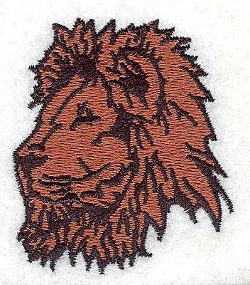 Embroidery Design: Lion 1.94w X 2.19h