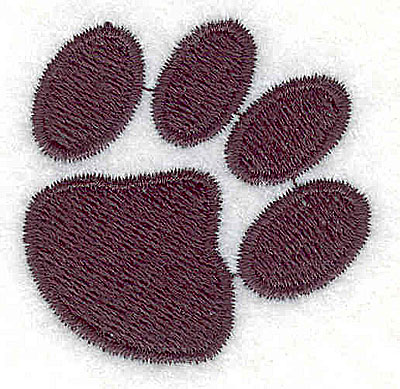 Embroidery Design: Cat paw print 1.44w X 1.44h