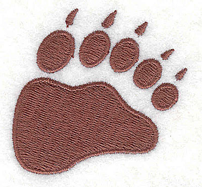 Embroidery Design: Bear paw print2.00H x 2.06w