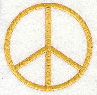 Embroidery Design: Peace sign3.69H x 3.69W